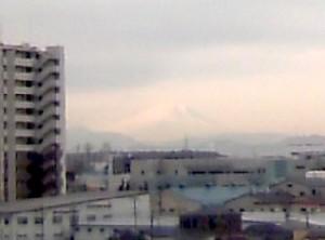 寮から見た富士山
