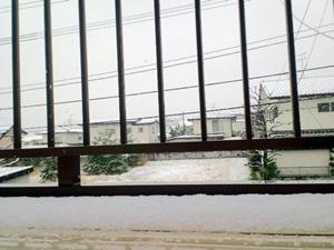 仙台で4月21日に降雪