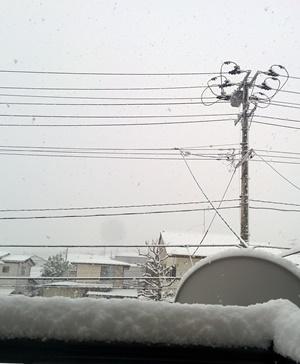 3月1日仙台積雪
